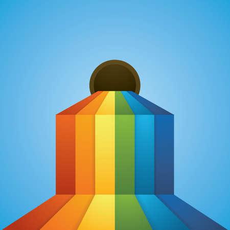 Ilustración de flowing rainbow - Imagen libre de derechos