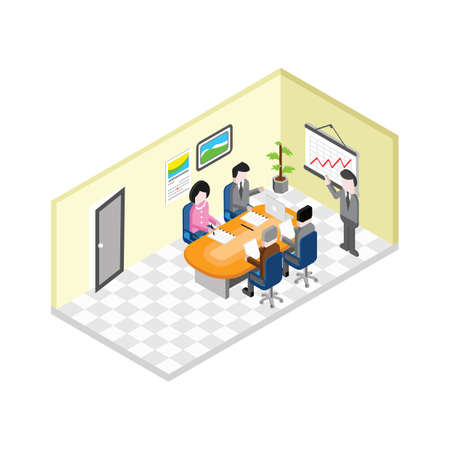 Illustration for people having business meeting - Royalty Free Image