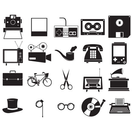 Illustration for A retro icons illustration. - Royalty Free Image