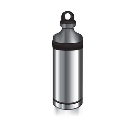 Illustration pour stainless steel water bottle - image libre de droit