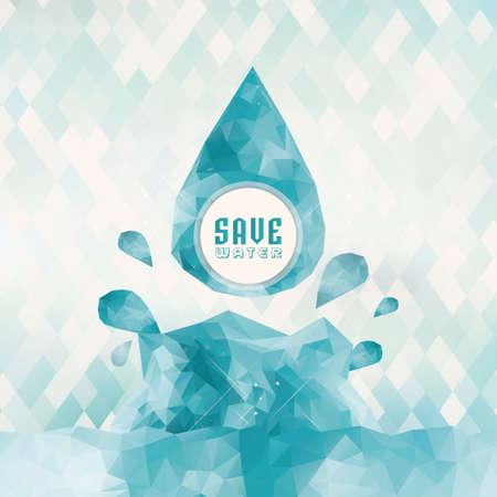 Illustration pour save water concept - image libre de droit