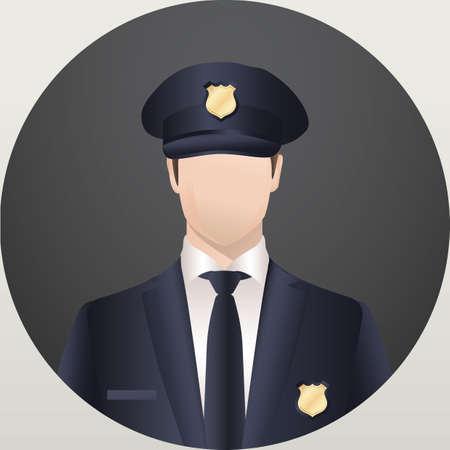 Illustration pour policeman - image libre de droit