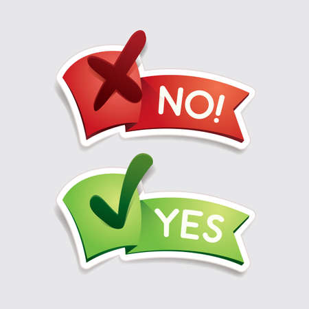 Illustration pour yes and no banners - image libre de droit