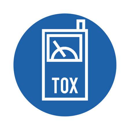 Ilustración de toxin detector - Imagen libre de derechos