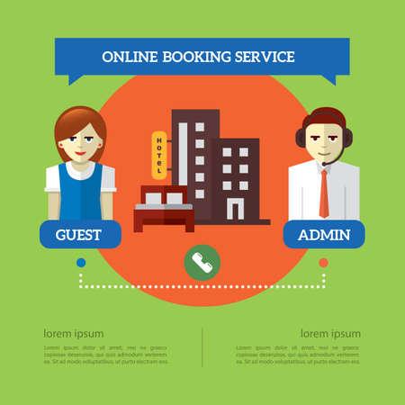 Ilustración de Infographic of online booking service - Imagen libre de derechos