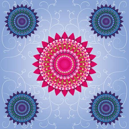 Ilustración de Abstract circular design pattern illustration. - Imagen libre de derechos