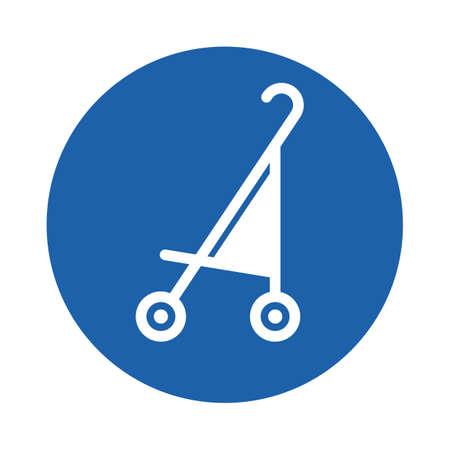 Illustration pour baby stroller - image libre de droit
