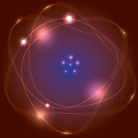 Illustration pour Atom symbol - image libre de droit