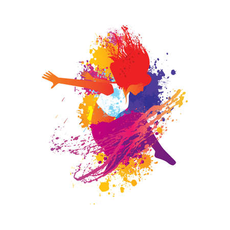 Illustration for woman dancer - Royalty Free Image