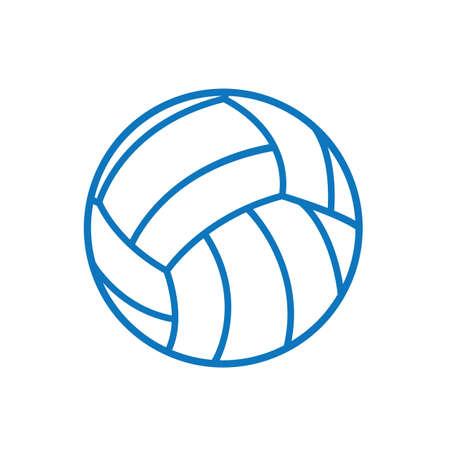 Ilustración de A volleyball illustration. - Imagen libre de derechos