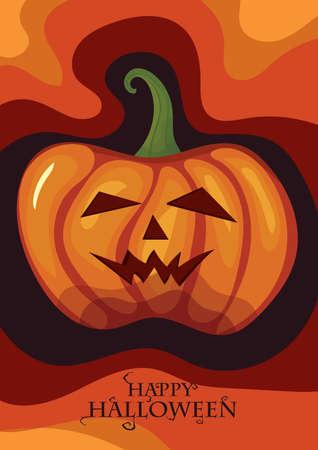 Ilustración de happy halloween card - Imagen libre de derechos