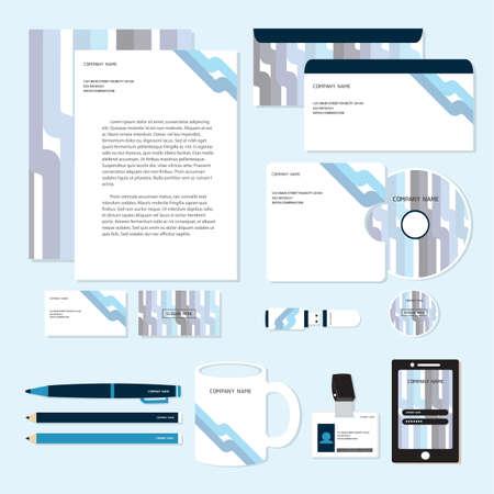 Illustration pour corporate identity designs - image libre de droit
