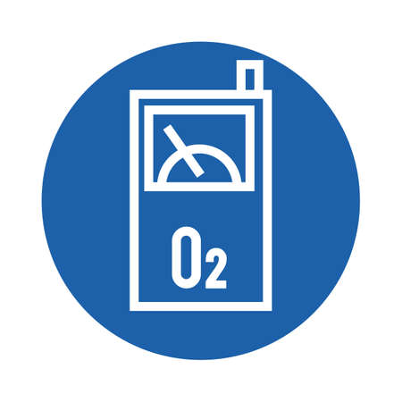 Ilustración de oxygen detector - Imagen libre de derechos