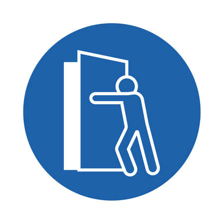 Illustration for man at the door - Royalty Free Image