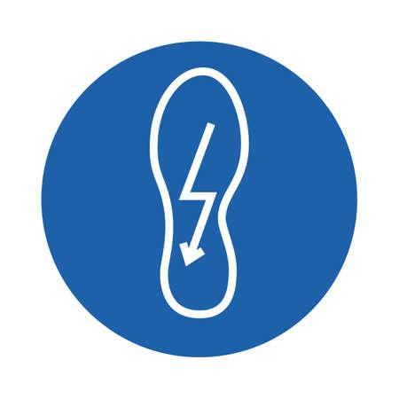 Ilustración de shoe with lightning symbol - Imagen libre de derechos