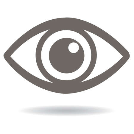 Illustration for eye icon - Royalty Free Image