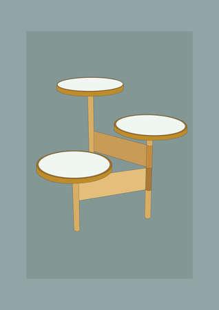 Ilustración de modern side table - Imagen libre de derechos