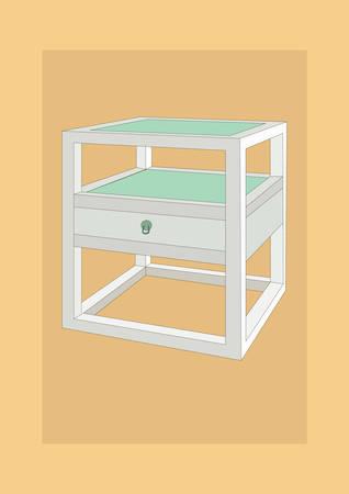 Ilustración de side table - Imagen libre de derechos