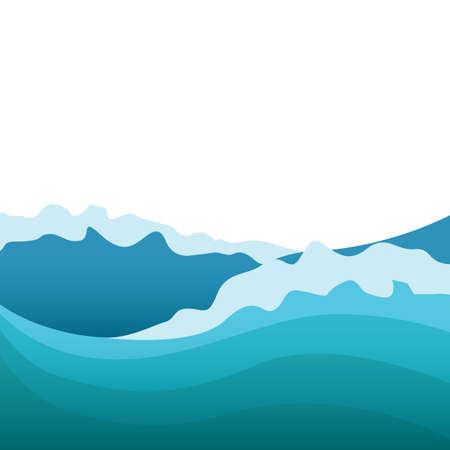 Ilustración de water waves - Imagen libre de derechos