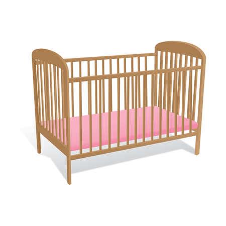Illustration pour baby cot - image libre de droit