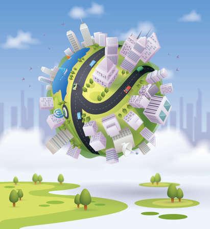 Ilustración de city globe - Imagen libre de derechos
