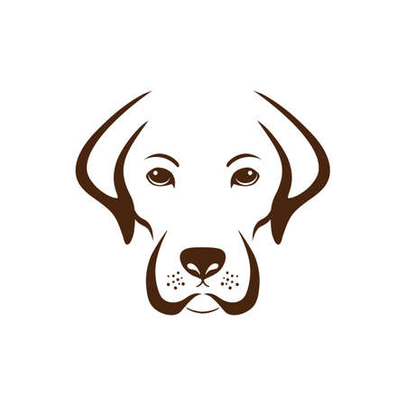 Illustration for Simple dog design. - Royalty Free Image