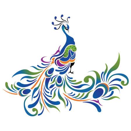 Photo pour peacock pattern icon - image libre de droit