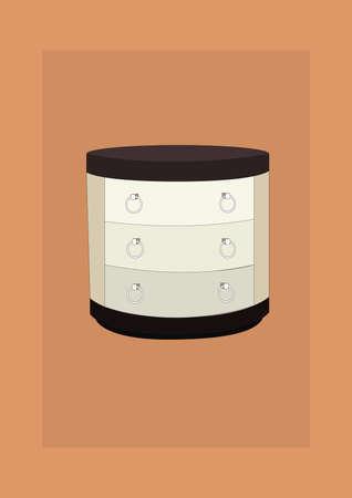 Ilustración de chest of drawers - Imagen libre de derechos