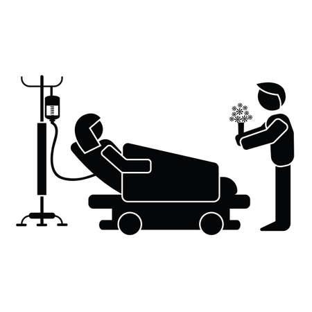 Ilustración de hospital visitation - Imagen libre de derechos