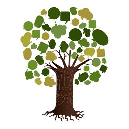 Illustration pour tree of speech bubbles - image libre de droit