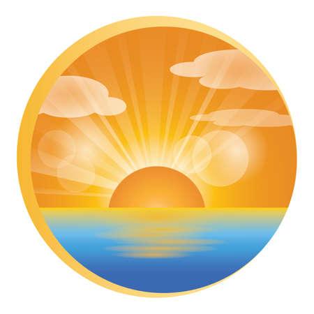 Ilustración de landscape icon - Imagen libre de derechos