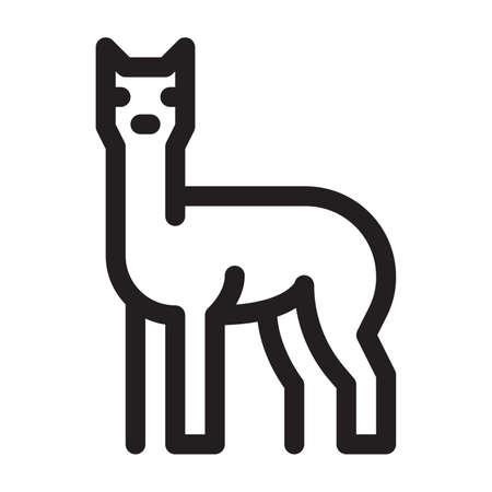 Illustrazione per Llama on a white background - Immagini Royalty Free