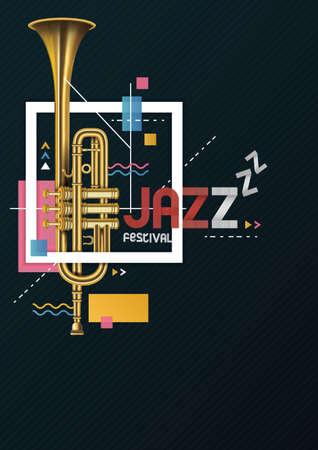 Illustration pour Coold artisric jazz festival poster design. - image libre de droit