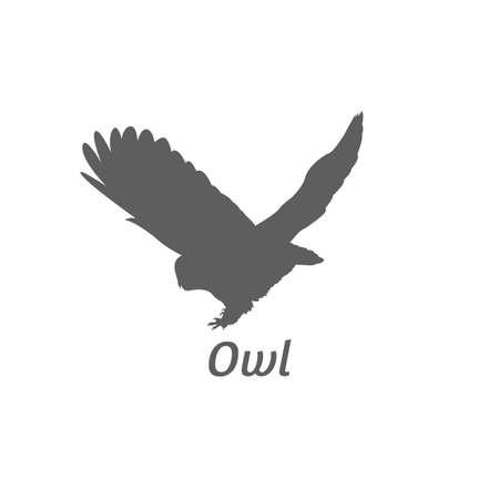Illustration pour Silhouette of owl - image libre de droit