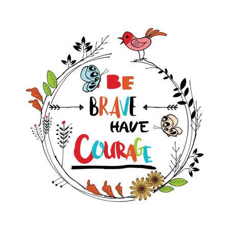 Ilustración de inspirational quote design - Imagen libre de derechos