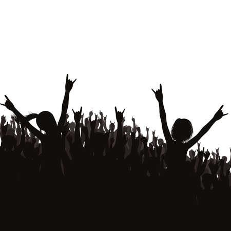 Illustration pour crowd at a concert - image libre de droit