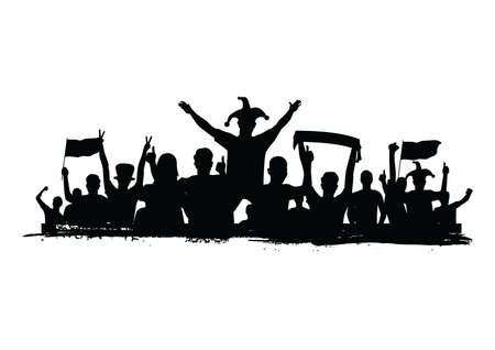 Illustration pour crowd cheering - image libre de droit