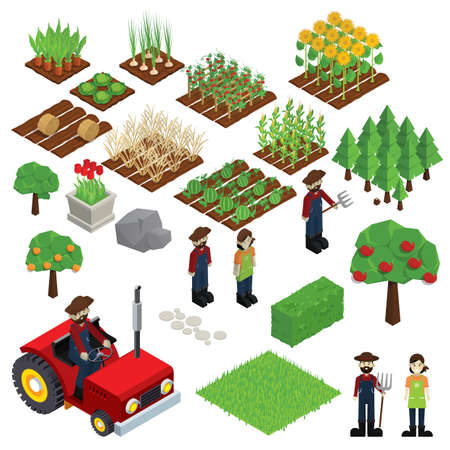 Photo for set of farm icons - Royalty Free Image