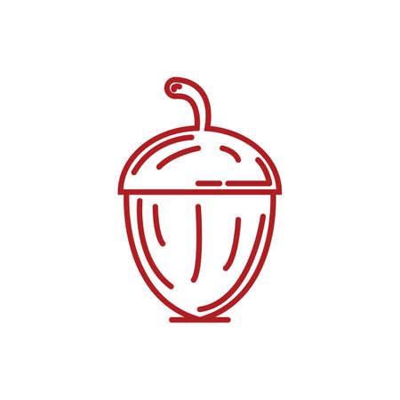 Illustration for acorn - Royalty Free Image