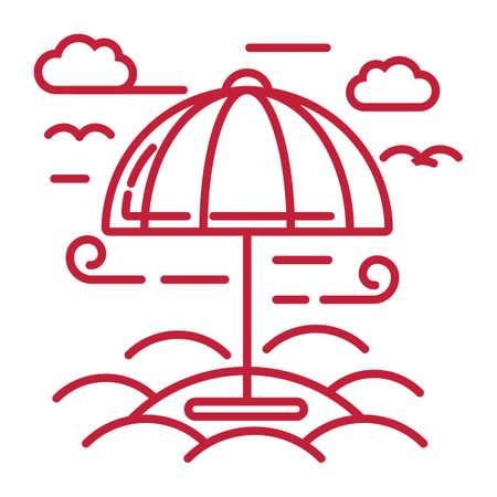 Ilustración de beach umbrella - Imagen libre de derechos