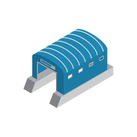 Ilustración de Isometric boat hangar - Imagen libre de derechos