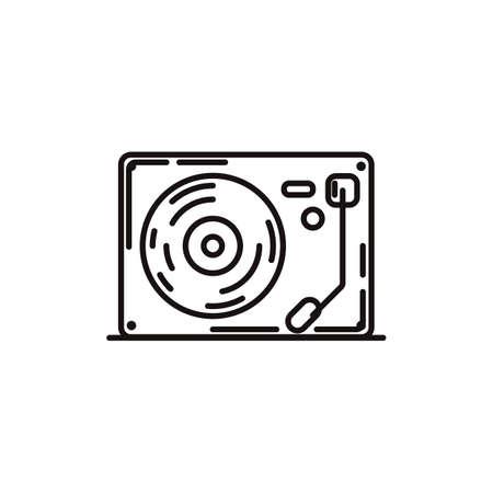 Illustration pour turntable - image libre de droit
