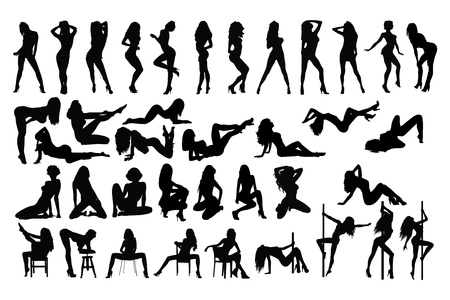 Illustration for dancing woman - Royalty Free Image