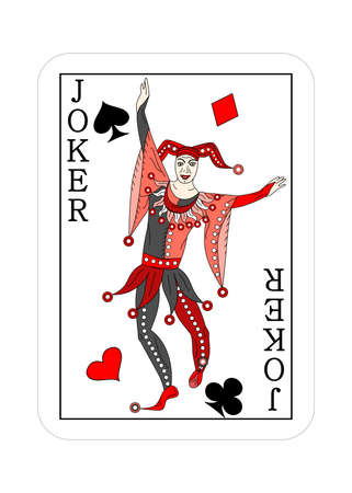Illustration pour The illustration playing card for poker joker. - image libre de droit