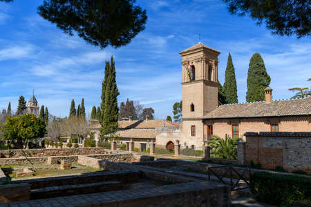 Foto de Convento de San Francisco (now a Parador Nacional) in La Alhambra, Granada, Andalusia, Spain - Imagen libre de derechos