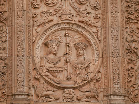 Photo for University of Salamanca facade of Escuelas Mayores side detail - Royalty Free Image