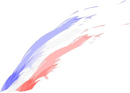 Ilustración de French - English - American flag sketch - Imagen libre de derechos