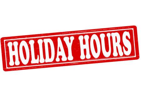 Ilustración de Stamp with text holiday hours inside illustration - Imagen libre de derechos