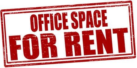 Illustration pour Stamp with text office space for rent inside, vector illustration - image libre de droit