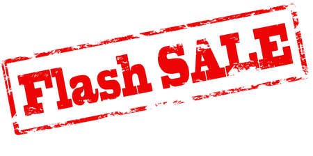 Illustration for Rubber stamp with text flash sale inside, vector illustration - Royalty Free Image